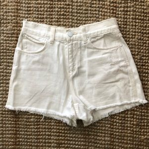 Silence + Noise high-rise denim shorts